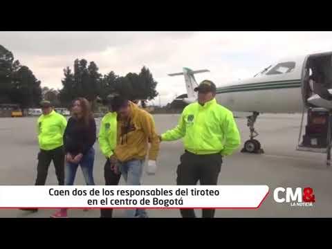 1 Caen dos de los responsables del tiroteo en el centro de Bogotá