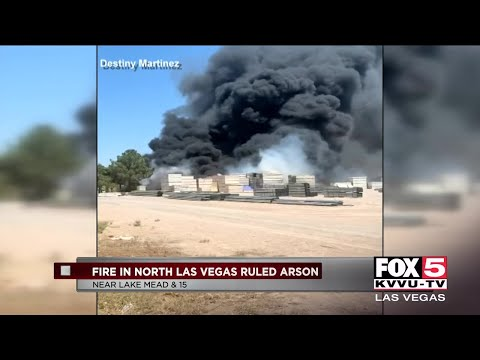 Warehouse Fire In North Las Vegas Ruled As Arson