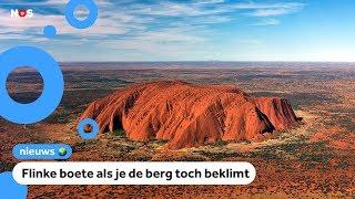 Beroemde rode rots in Australië gaat dicht