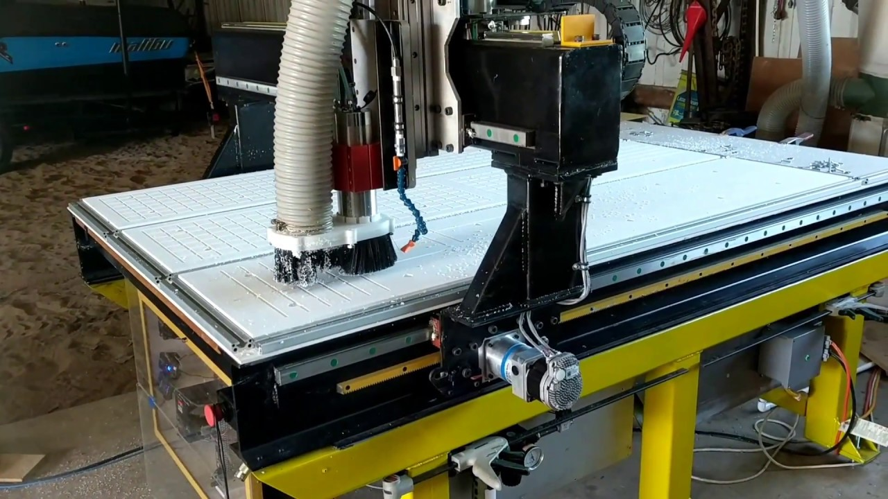 Diy Cnc Router Clearpath Servos Steel And Epoxy Youtube