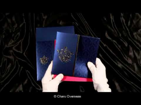 Royal Blue Wedding Invitations | 1503 | IndianWeddingCards