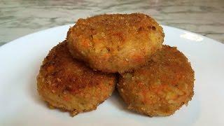 Капустно-Морковные Котлеты/Постные Котлеты/Vegetable Cutlets/Простой Рецепт(Вкусно,Быстро и Полезно)