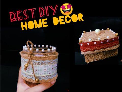 diy-jute-glass-jar-&-accessory-box-|-jute-&-pearl-craft-ideas-|-home-decor-&-interior-design