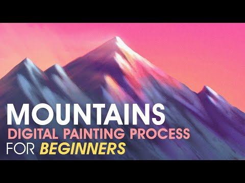 How To Paint Mountains (For Beginners) – Digital Painting Process | Photoshop Tutorial