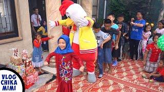 Joget Dj TikTok Suling Sakti Spongebob di Ulang Tahun Chika Bersama Teman dan Badut Ayam Jago
