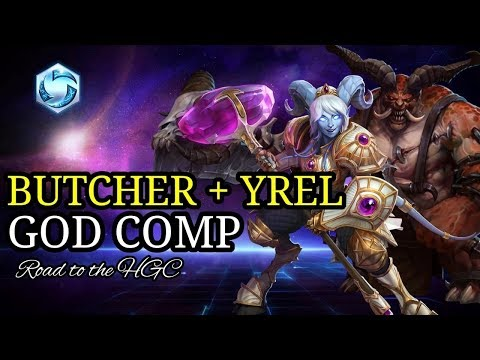 Butcher + Yrel is a GOD comp! - Heroes of the storm (HotS funny Gameplay)