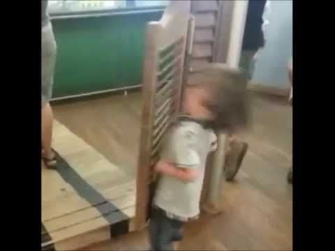 Kid Gets Hit By Door Remix Youtube