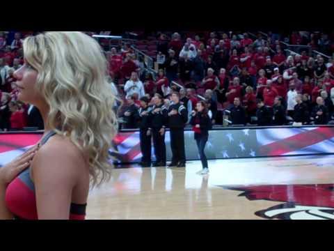 Hannah Jones singing National Anthem 1/28/12