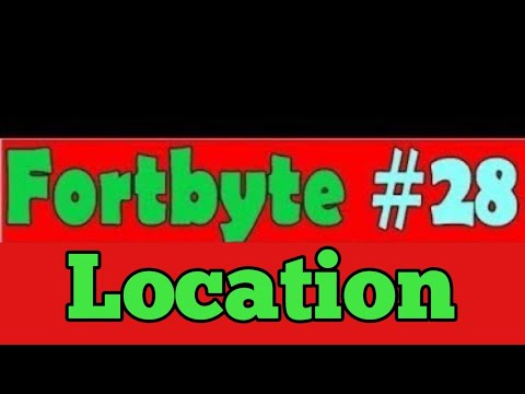 Fortbyte #28 Location - Accessible By Solving The Pattern Match Puzzle Outside A Desert Junkyard