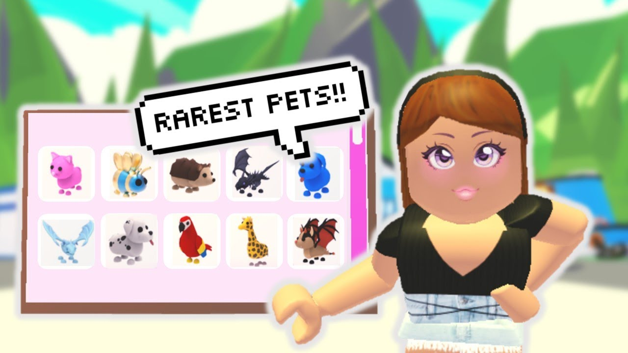 TOP 10 RAREST PETS IN ADOPT ME (ROBLOX) YouTube