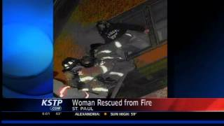 VIDEO: Woman Rescued From Fire