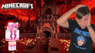 We found the Castle in Nether with Noobaki -Minecraft / Famous Games-Famous toli
