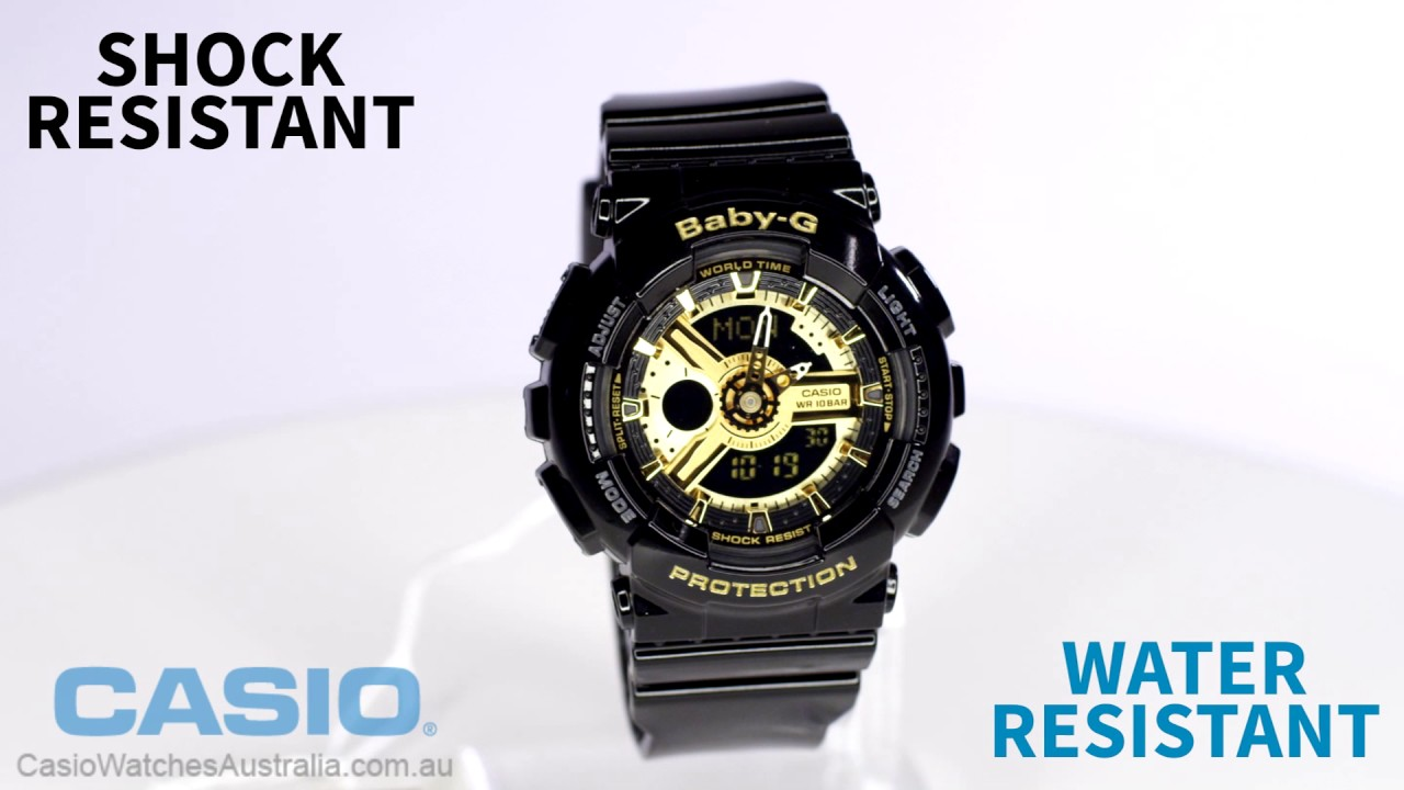 0820fc8fd18 Casio Baby G BA-110-1ADR Watch Overview and Main Features - YouTube
