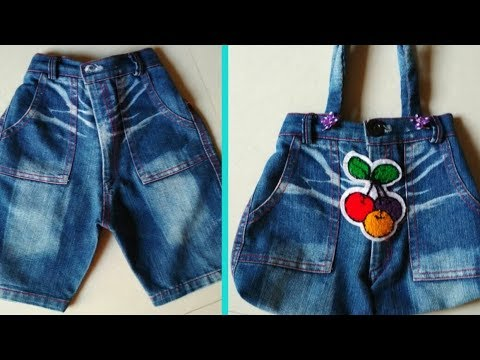 Make A Hand Bag From Old Jeans || DIY Hand Bag thumbnail
