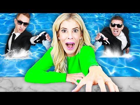 LAST TO LEAVE POOL WINS $10,000! (Battle Royale in Mermaid Tail) | Rebecca Zamolo