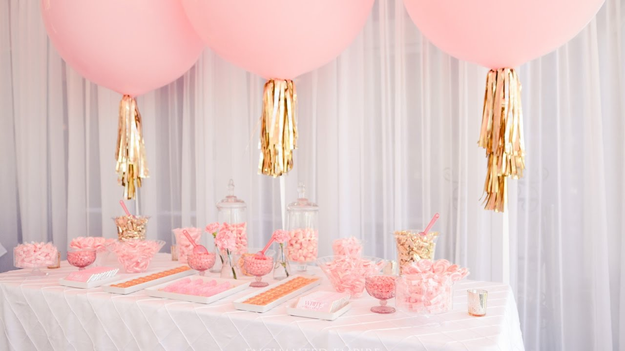 Peony Pink Champagne Gold Candy Bar Styled By Enchanted