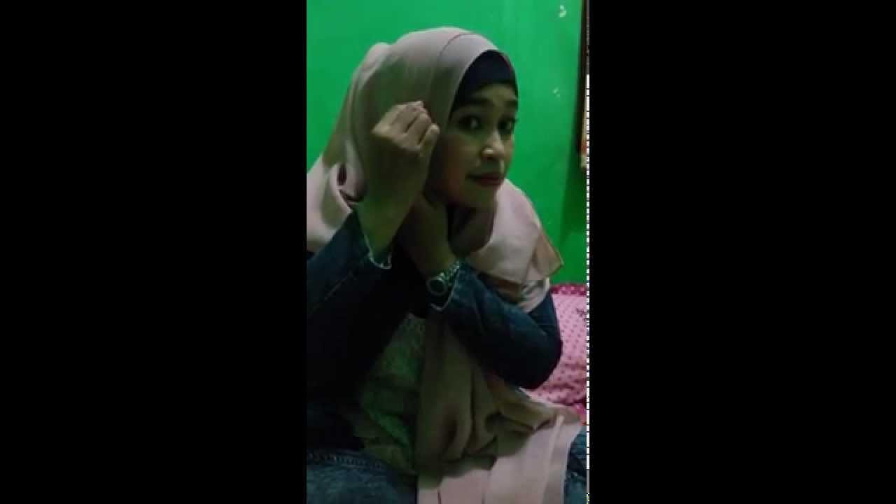 tutorial pashmina sifon model bunga - YouTube