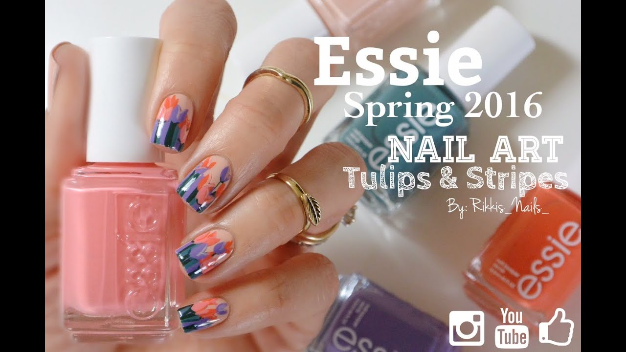 Spring Flowers Nail Art Featuring Essie 2016 Spring Collection ...