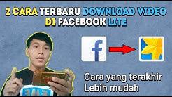 2 Cara Download Video di Facebook Lite Terbaru