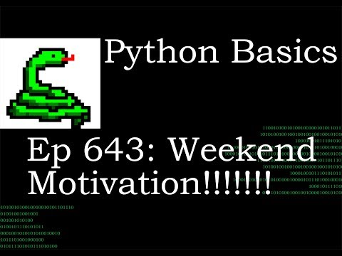 Python Basics Tutorial Weekend Motivation thumbnail