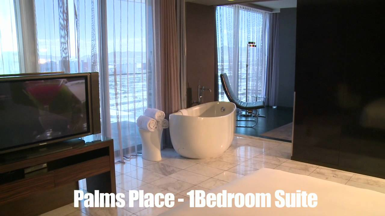 BookItcom Preview Las Vegas Palms Place  Bedroom Suite YouTube - One bedroom suite