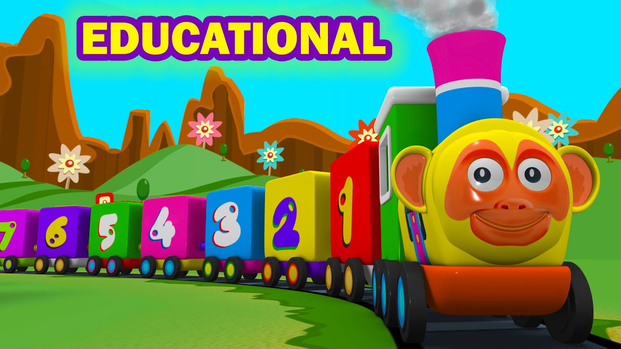 SMART LEARNING: Toy Factory Cartoon Number Train | Alphabet Learning Cartoon Train Videos for Kids