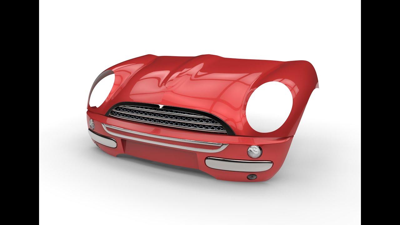 Design of a car bumper - How To Make Car In Solidworks Part 4 Mini Cooper Modelling Bumper Of The Car