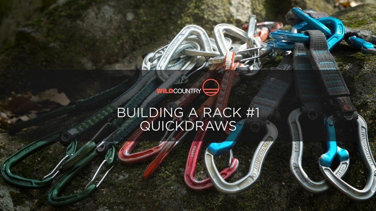 building a climbing rack step 1 quickdraws
