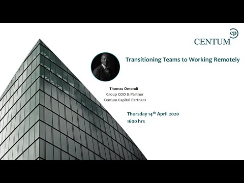 How to transition a team from office-based focus to working remotely and staying focused.
