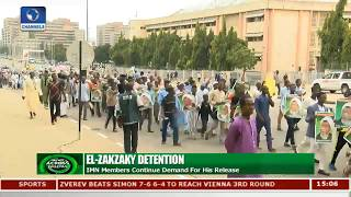 IMN Members Protest Continued Detention Of El-Zakzaky, Demand Release
