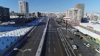 Karlar Altında Bağlıca - Bağlıca Bulvarı Drone Çekimi 13/12/2018