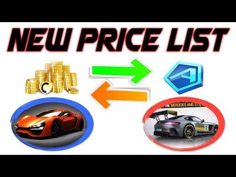 Asphalt 8 - New Price List 💰 ➽💎