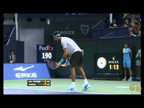 Del Potro's Lethal Forehand against Nadal, Shanghai 2013