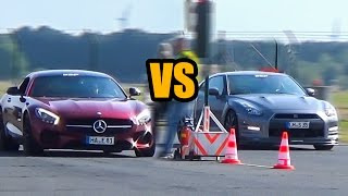 Nissan GTR VS Mercedes-Benz AMG GTS - DRAG RACE!