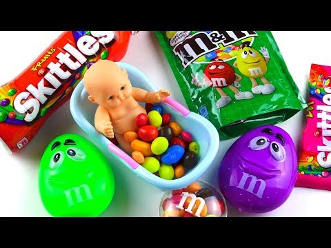 Video with Candy and Doll, Rainbow in Candy, Crazy video for kids