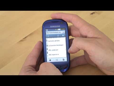 Samsung GT S7550 Blue Earth Test Internet