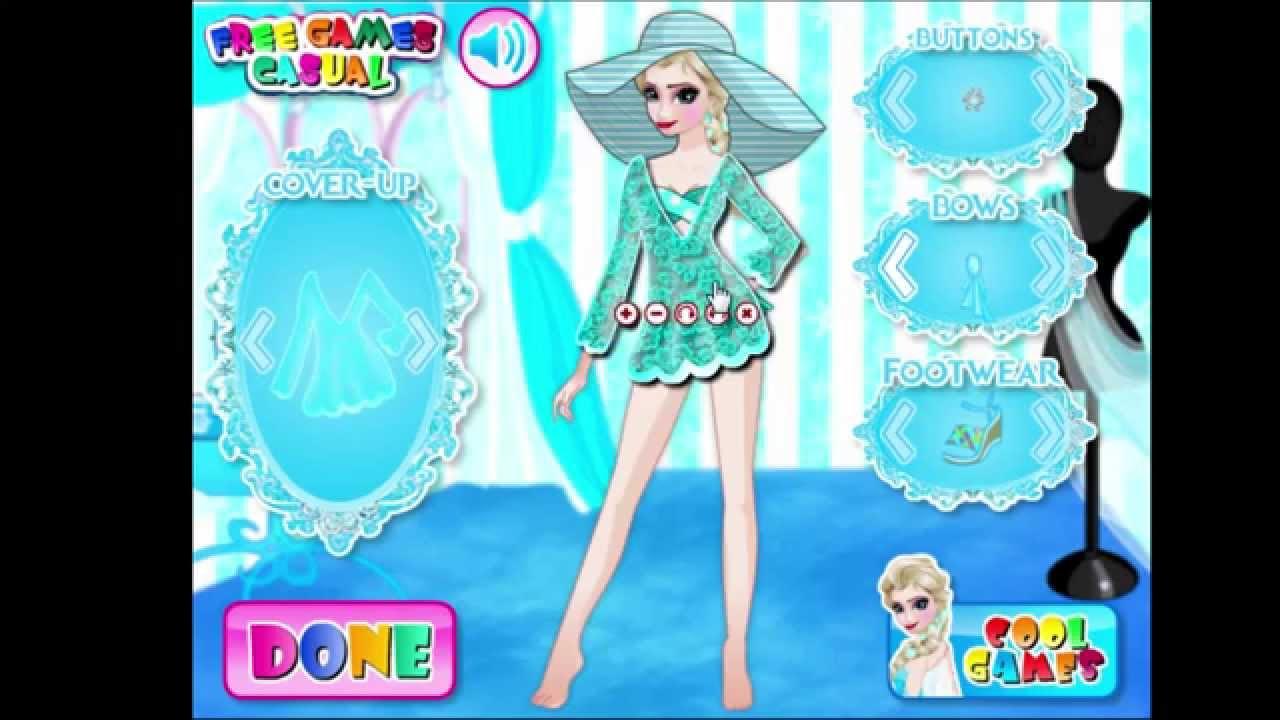 e784b8806c Frozen Elsa Swimwear Design Game - Dress up - YouTube