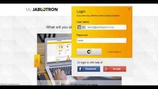 Jablotron web self service wireless temperature monitoring