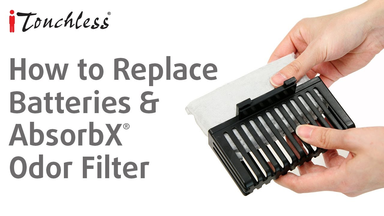 How To Replace Carbon Filter And Batteries For Itouchless Touchless