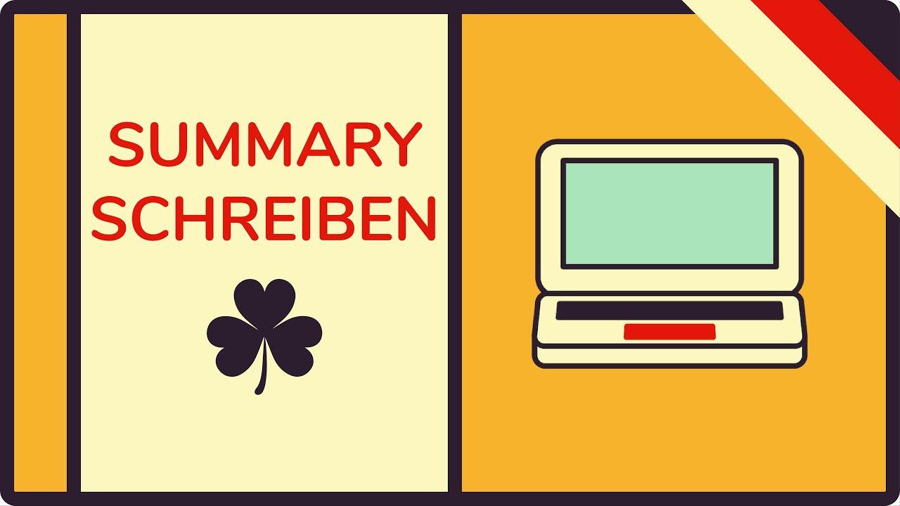 Summary Auf Deutsch Erklärt Zusammenfassung Englisch Schreiben