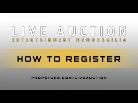 How To Register | Prop Store Live Auction