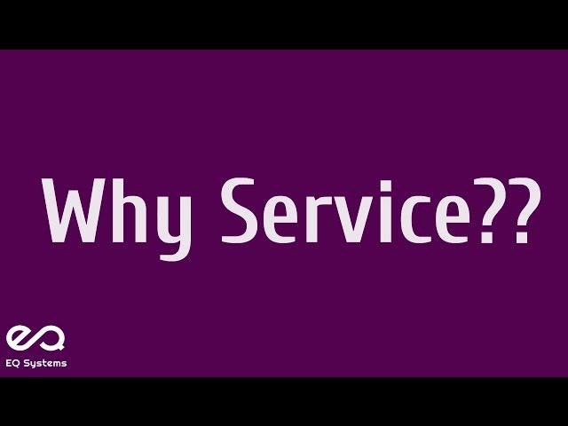 Why Service? - eQSystems (ITIL, PRINCE2, COBIT, ASM, Cloud and Devops)