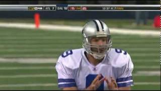 Tony Romo avoids 4 tacklers and throws a TD to Crayton