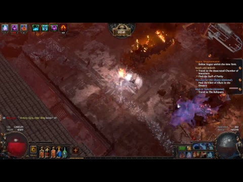 Path of Exile game play Nekromant with Zombies