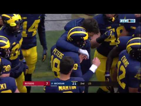 2017 Michigan Football Highlights v. Rutgers (glitched)