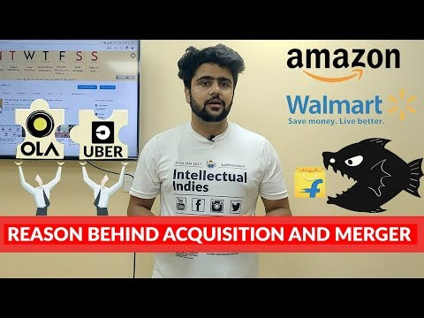 Acquisition and Mergers | Amazon or Walmart Acquiring Flipkart | Ola and Uber Merger | Hindi