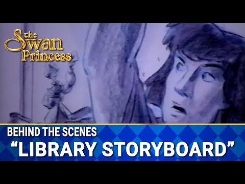 Deleted Library Scene in Storyboard from Swan Princess