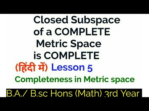 Closed Subsets Of Complete Metric Spaces Are Complete Subspace In