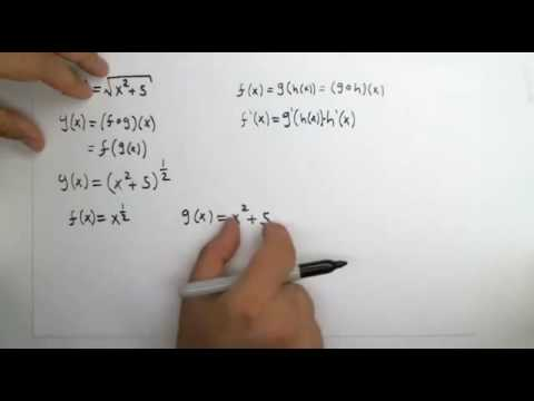 Chain Rule: Derivative of y(x)=sqrt(x^2+5)