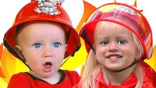 Canción de bomberos | Canción Infantil | Canciones Infantiles con Katya y Dima